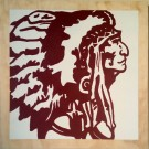"""Chief"" by Emily Fromm – 16"" x 16"" Acrylic on Wood"