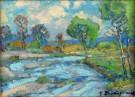 """The Salinas River"" by Karl Dempwolf - 12""x16"" Oil on Stretched Canvas, $3500"