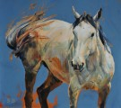 """A Horsefly"" by Sophy Brown - 9.75""x8.75"" Acrylic on Board, $1250"