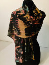 """Black Discharged Scarf"" by Toni Bouman - Shibori & Textile Art"