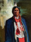 """Blue Coat"" by Glen Edwards - 24""x18"" Oil, $3000"
