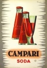 """Campari Soda"" by Mingozzi, 1950 -38.5"" x 26.75"", $1600"