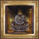 """Cathedral of the Iron Horse"" by Jeff Segler - 36""x36"" Oil on Linen, $22,000"