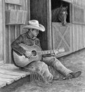 """Equine Serenade"" by Cindy Long - 12""x11"" Graphite, $1500"
