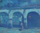 """Moonlight in the Mission San Juan Capistrano"" by Alson Skinner Clark"
