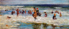 """Women Playing in the Surf"" by Colin Campbell Cooper"