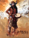 """Dancing Drummer"" by Glen Edwards - 24""x18"" Oil, $3000"