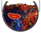"""Fiery Galaxy"" by Claudia Ariss - Contemporary Stained Glass, $165"
