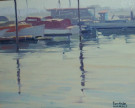 """The Misty Harbor, Newport"" by Sam Hyde Harris"
