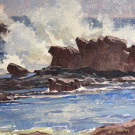"""Breakers-Crystal Cove"" by Kim Mackey - Oil, $1900"