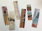 Original Collage Laminated Bookmarks by Karen Browdy - Collage