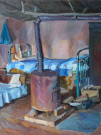 """Interior With Oven"" by Anastasia Dukhanina - Oil, $1800"