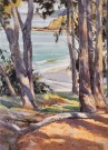 """Shoreham Pines"" by Mike Kowalski - Watercolor, $900"