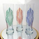 """Pinstriped Pilsners"" by Monika Roe - One Shot Enamel on Glass, $35 each"