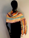 """Mexican Dawn Shawl"" by Toni Bouman - Shibori & Textile Art"
