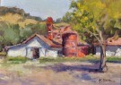 """The Silo Barn At Halter Ranch Winery"" by Kristen Olson - Oil, $1200"