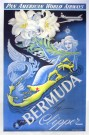 """Bermuda by Clipper – PanAm"" by Art Zybasheff, 1949 - 42.25"" x 27"", $3400"