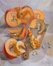 """Pumpkin for the Soup"" by Anastasia Dukhanina - 24""x20"" Oil, $1900"