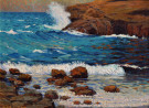 """Resounding Surf"" by Granville Redmond"