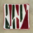 """Christmas Stripes"" by Stephanie Wilbanks - Kilnformed Glass, $30"