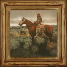 """War Pony"" by Jeff Segler - 24"" x 24"" Oil on Linen, $5600"