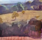 """Hillside Orchard"" by Kevin Weckbach - Watercolor, $650"
