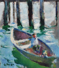"""Figure in Boat"" by Selden Connor Gile"