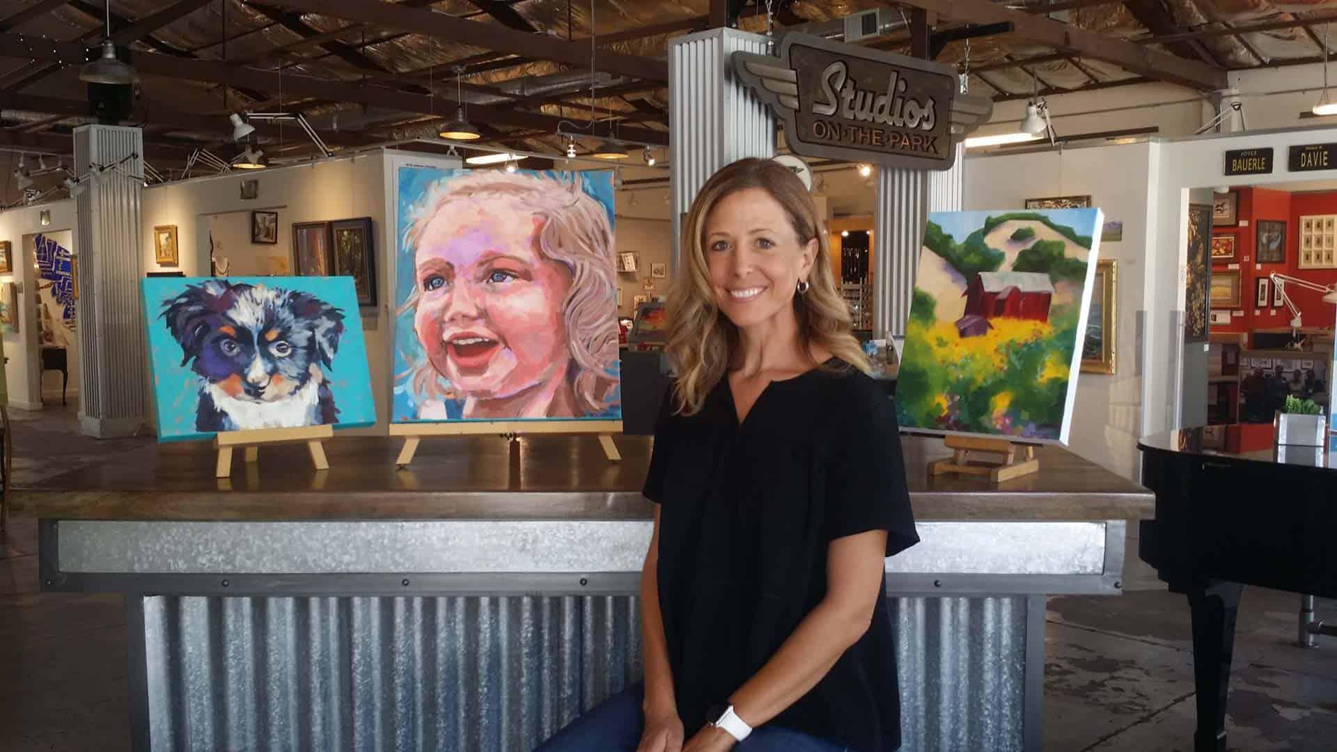 Karyn Blaney with artwork